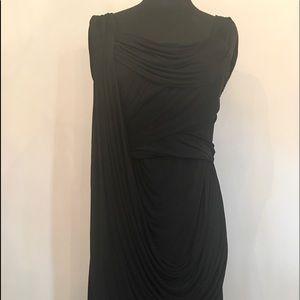 Zac Posen Black Rayon Knit Cocktail Dress